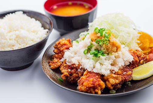 おろしそポン酢唐揚げ定食